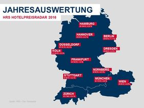 HRS-Hotelpreise: Deutschland 2016. Grafik: HRS Group